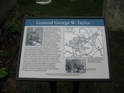 General George W. Taylor Marker image. Click for full size.