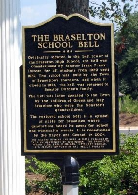 The Braselton School Bell Marker image. Click for full size.
