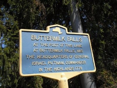 Buttermilk Falls Marker Photo, Click for full size
