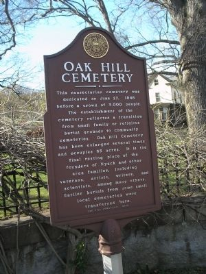 Oak Hill Cemetery Marker Photo, Click for full size