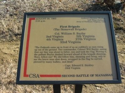 First Brigade Marker image. Click for full size.