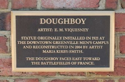 Doughboy Inscription image. Click for full size.