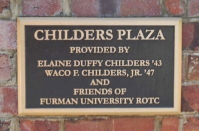 Childers Plaza Plaque image. Click for full size.