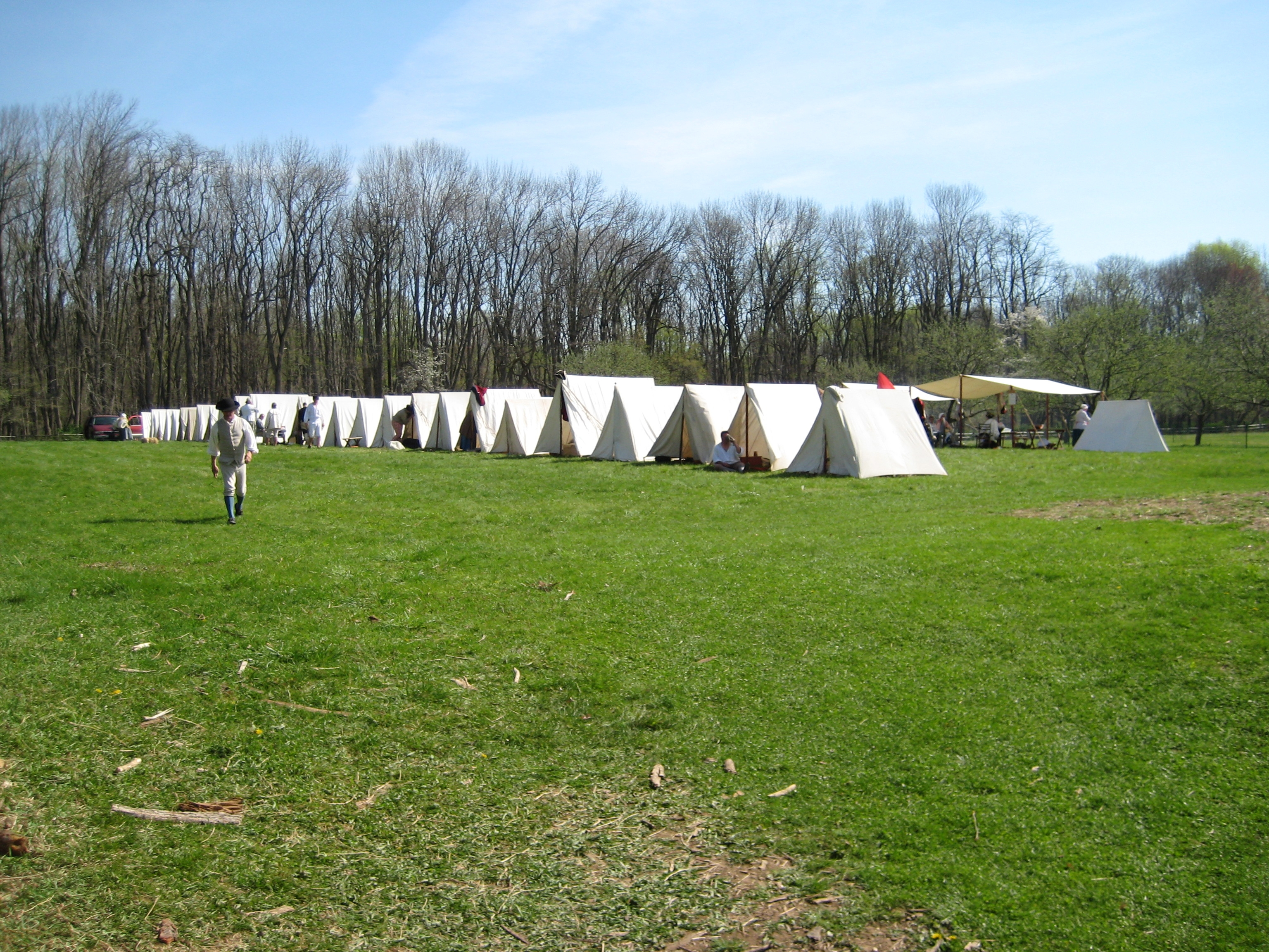 Re-enactment of Encampment at Jockey Hollow Next to Wick Farm