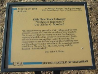 13th New York Infantry Marker Photo, Click for full size