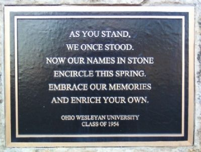 OWU Class of 1954 Quote image. Click for full size.