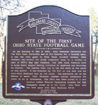 Site of the First Ohio State Football Game Marker image. Click for full size.