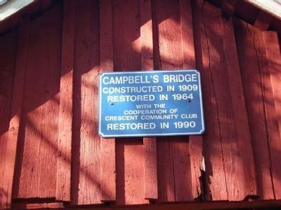 Campbell's Covered Bridge Marker Photo, Click for full size