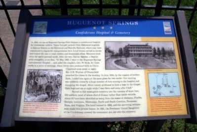 Huguenot Springs CWT Marker Photo, Click for full size