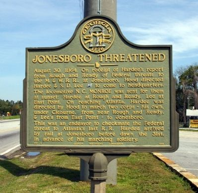 Jonesboro Threatened Marker image. Click for full size.