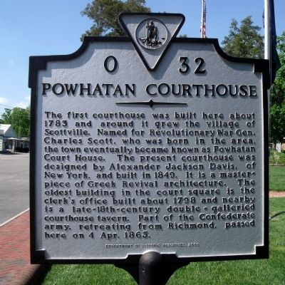 Powhatan Courthouse Marker image. Click for full size.