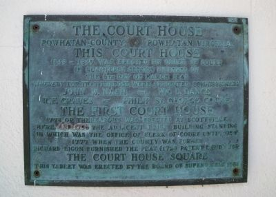 The Court House Plaque image. Click for full size.