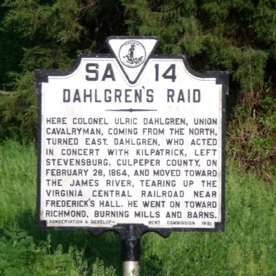 Dahlgren's Raid Marker Photo, Click for full size