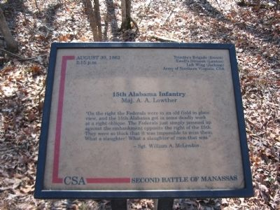 15th Alabama Infantry Marker Photo, Click for full size
