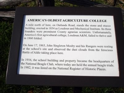 America's Oldest Agriculture College Marker image. Click for full size.