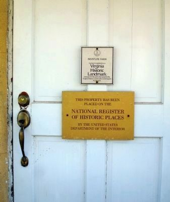 Plaques on Door image. Click for full size.
