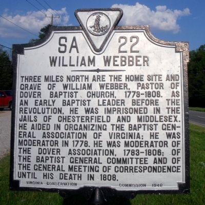 William Webber Marker image. Click for full size.