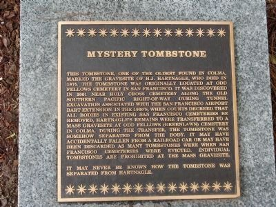 Mystery Tombstone image. Click for full size.