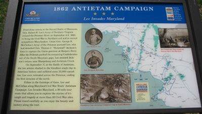 1862 Antietam Campaign Marker Photo, Click for full size