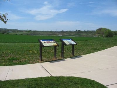 Civil War Trails Markers at Monocacy Photo, Click for full size