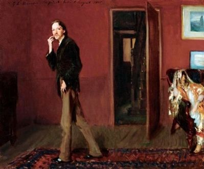 Robert Louis Stevenson and His Wife, Fanny Photo, Click for full size