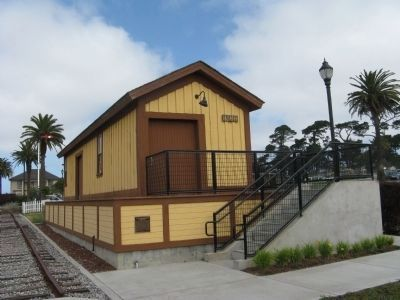 Old Colma Railroad Freight Depot Photo, Click for full size