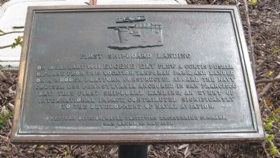 First Shipboard Landing Marker Photo, Click for full size