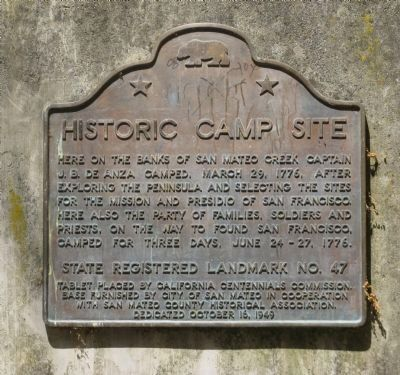 Historic Camp Site Marker image. Click for full size.