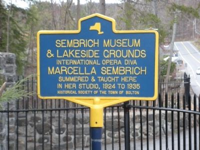 Sembrich Museum & Lakeside Grounds Marker image. Click for full size.