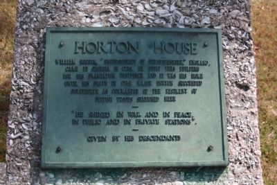 Horton House Marker image. Click for full size.