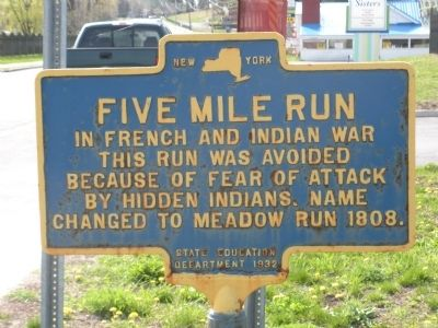 Five Mile Run Marker Photo, Click for full size