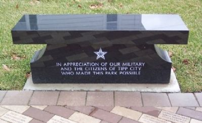 Tipp City Veterans Memorial Bench Photo, Click for full size