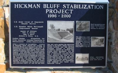 Hickman Bluff Stabilization Project Marker image. Click for full size.