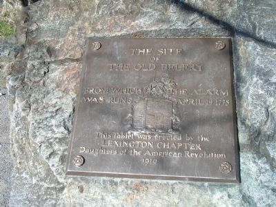 The Site of the Old Belfry Marker Photo, Click for full size