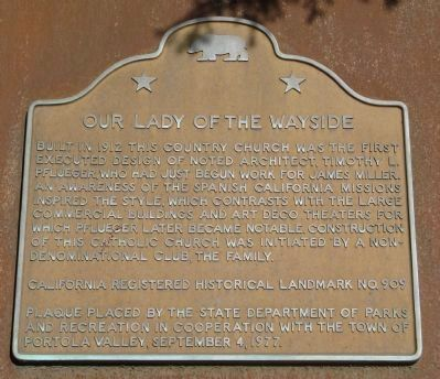 Our Lady of the Wayside Marker image. Click for full size.