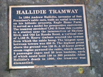 Hallidie Tramway Marker image. Click for full size.