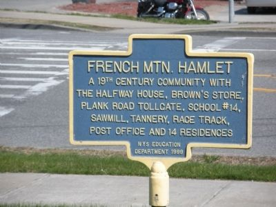 French Mtn. Hamlet Marker image. Click for full size.