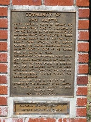 Community of San Martin Marker image. Click for full size.