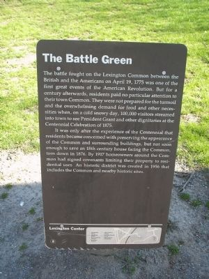 The Battle Green Marker Photo, Click for full size