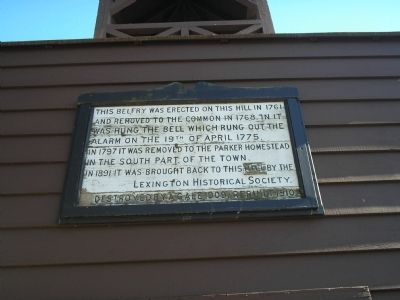 Old Belfry Marker Photo, Click for full size