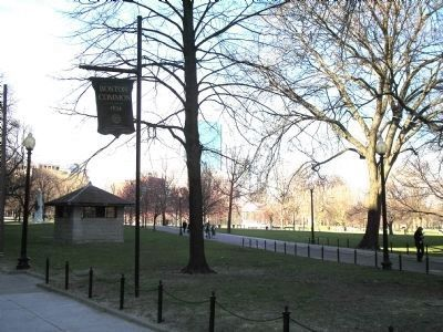 Boston Common - Founded 1634 image. Click for full size.