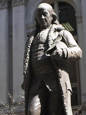 Closeup of Benjamin Franklin image. Click for full size.