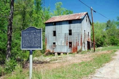 Manufacturing Site Marker and Abandoned Mill image. Click for full size.