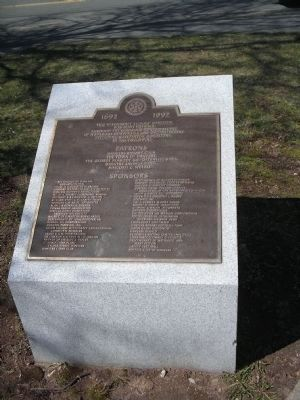 Credit plaque for Witchcraft Victims' Memorial Photo, Click for full size