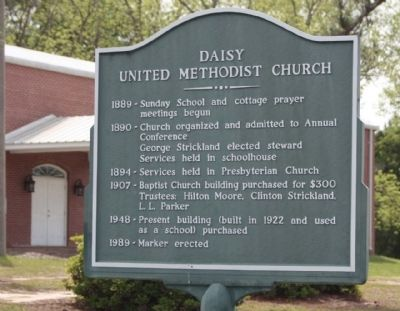 Daisy United Methodist Church Marker image. Click for full size.