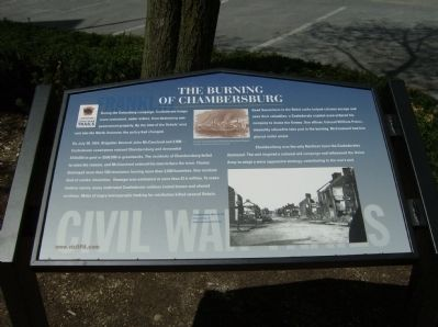 The Burning of Chambersburg Marker Photo, Click for full size