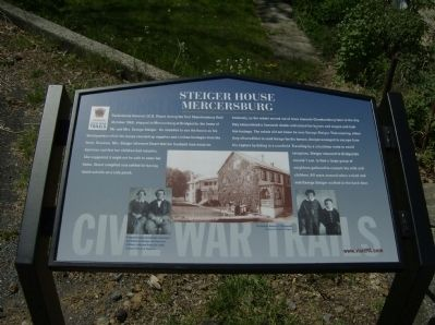 Steiger House at Mercersburg Marker Photo, Click for full size