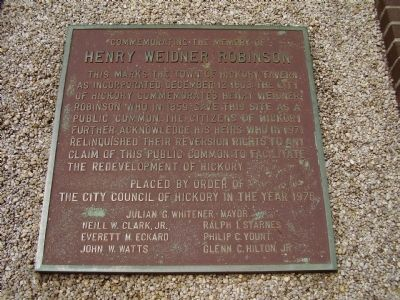 Henry Weidner Robinson Marker image. Click for full size.