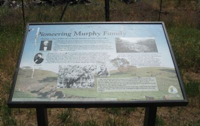 Pioneering Murphy Family Marker image. Click for full size.