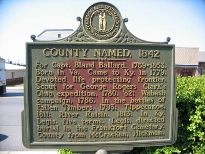 County Named, 1842 Marker Photo, Click for full size